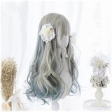 60cm Long Curly Color Mixed Party Hair Wig Synthetic Anime Cosplay Costume Wig Lolita Wigs For Girls CS-825A