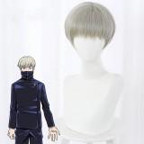 30cm Short Grey Tea Color Jujutsu Kaisen Toge Inumaki Wig Synthetic Anime Cosplay Wigs CS-458H