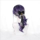 55cm Long Curly Purple&Gray Mixed Hair Wig Synthetic Anime Cosplay Wig Halloween Lolita Wigs CS-823B