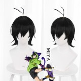30cm Short Black SK8 the Infinity Miya Wig Synthetic Anime Cosplay Hair Wigs CS-463B