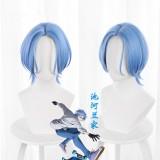 30cm Short Blue SK8 the Infinity Anime Langa Hasegawa Wig Synthetic Cosplay Hair Wigs CS-463C