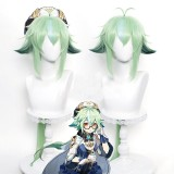 85cm Long Green Mixed Anime Wig Genshin Impact Sucrose Peluca Synthetic Cosplay Hair Wigs CS-455Z