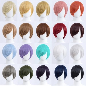 30cm Short Bobo Wig Cosplay Multi Colors MSN Straight Synthetic Anime Hair Cosplay Heat Resistant Wigs For Party