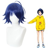 30cm Short Blue Wonder Egg Priority Anime Ohto Ai Wig Synthetic Cosplay Hair Wigs CS-467A