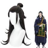 65cm Long Black Jujutsu Kaisen Anime Wig Geto Suguru Hair Synthetic Cosplay Costume Wigs CS-458K