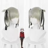 35cm Short Light Gray Kakegurui Momobami Kirari Synthetic Anime Cosplay Hair Wigs CS-076N